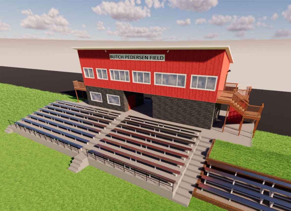 Field view of the new press box